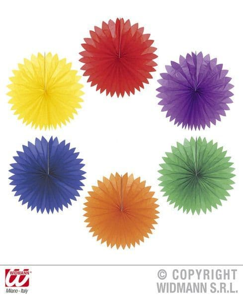Paper Fans Unicolour 50cm Fancy Dress