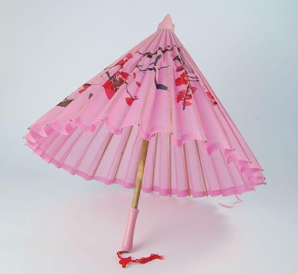 Parasol Pink Umberella Sunshade Fancy Dress Party