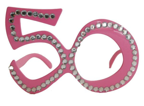Party Glasses Birthday 50th