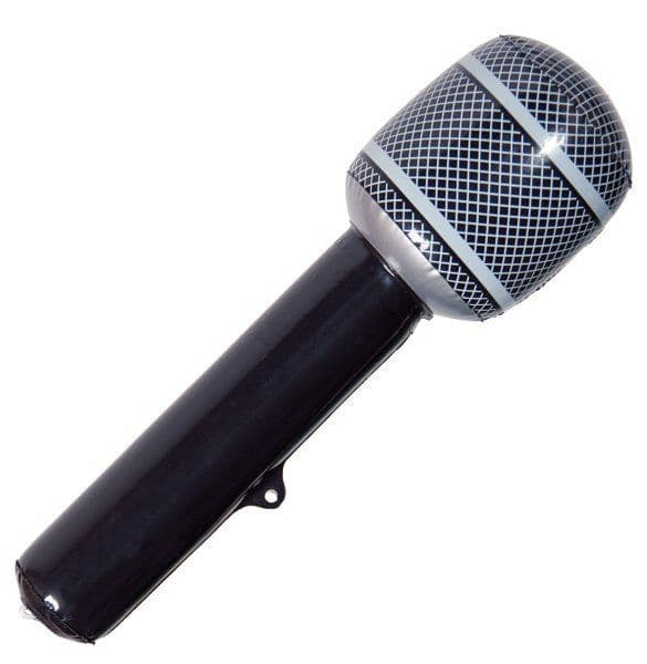 Party Inflatable Microphone Black karaoke Singer Stage Prop