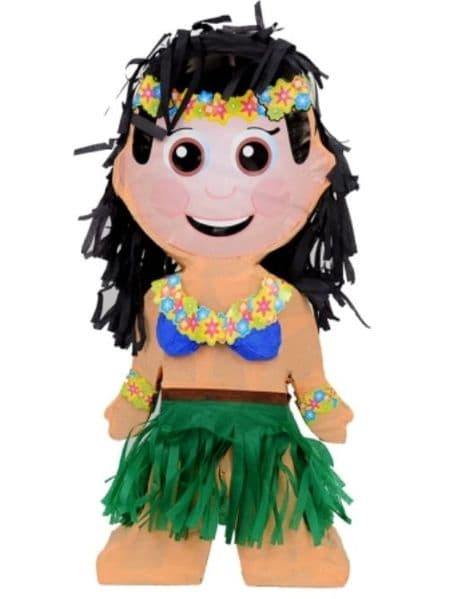 Pinata Luau Dancer Tropical Hawaii Hawaiian Beach