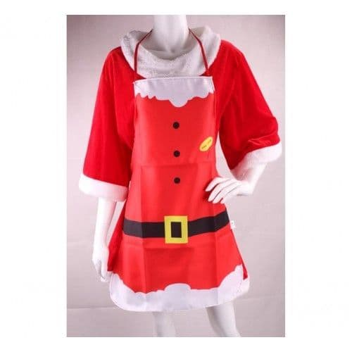 Red Christmas Apron Novelty Chefs Gift 3-Styles