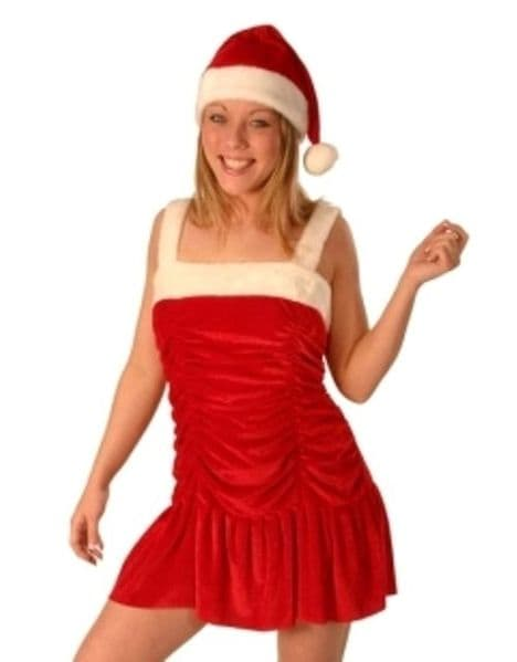 Santa Miss Velvet Light up Dress Christmas Festive Seasonal Holidays