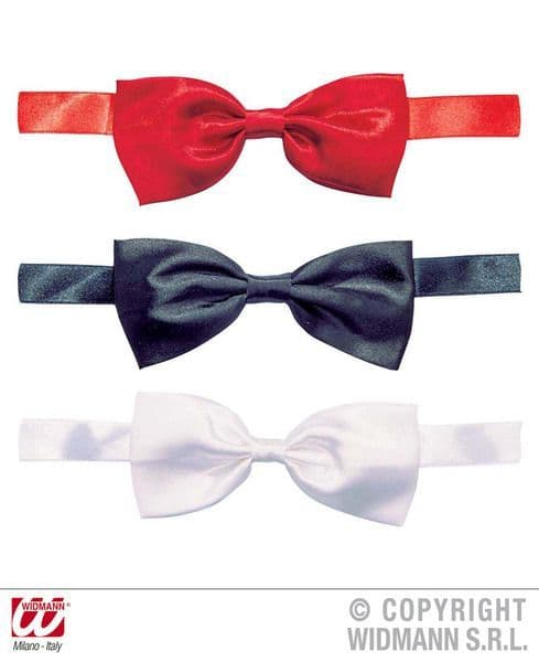 Satin Bow Performer Tie Red/White/Black Decoration Dance Troup Showtime Party