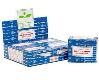 Satya Sai Baba Nag Champa 75g Beauty Soap Bar Vegan Vegitarian Natural Soap Cake