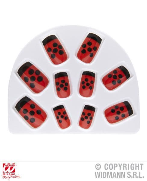 Set Of 10 Ladybug Nails Ladybird Insect Bug Animal Creature Cosmetics