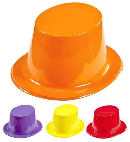 Top Hat Random Gloss Colours New Years Party Fancy Dress Cosplay