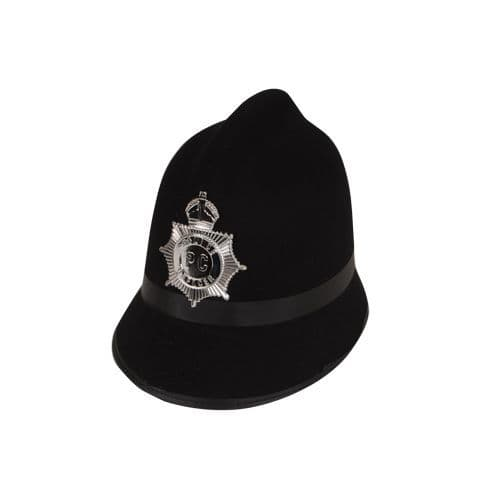 Traditional Police/Bobby Hat for Cop Policeman Copper Bobby Fancy Dress