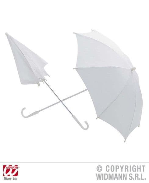 Umbrella White 60cm Fancy Dress Parasol Victorian Dickensian Cosplay Accessory