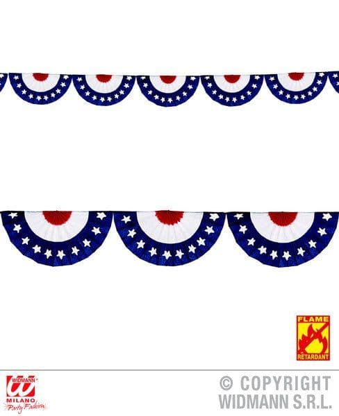 Usa Fan Garland 2.75 M United States Of America Fancy Dress