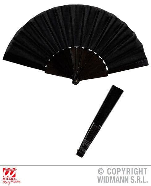 Victorian Fabric Fan 23cm 19th 20th Century Historic Fancy Dress