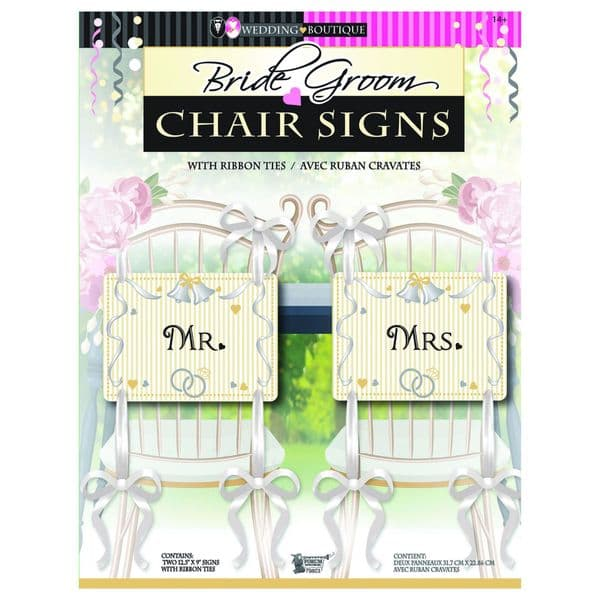 Wedding Mr & Mrs Chair Party Tableware