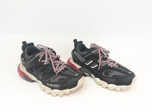 Balenciaga Track Sneakers Black/ Red Size 37