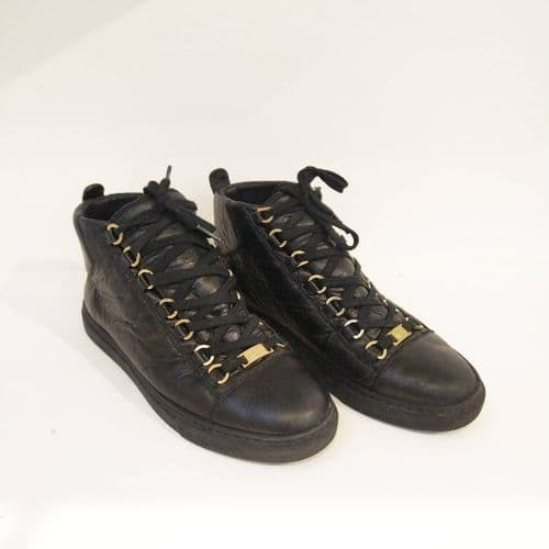 Balenciaga Women's Arena Black High Top Trainers Size 6 #2/125/A