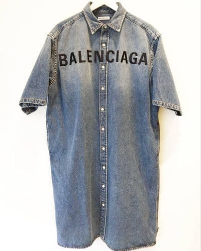 Balenciaga Women's Oversized Denim Dress Size 34 #1/391/A