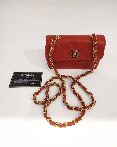 Chanel Mini Vintage Red Bag