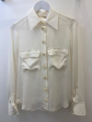 Chloe Cream Button Blouse, Size S 4047/37 M