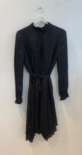 Claudie Pierlot Black and White Dot Dress Size 40