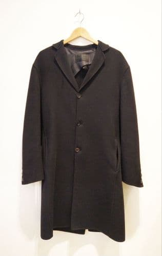 Donna Karen Men's Black Cashmere Coat Size M #29/C9404/A FB