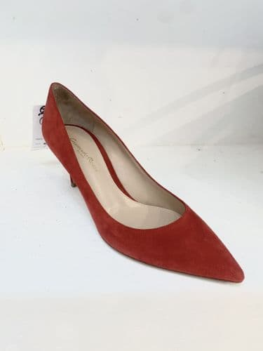 Gianvito Rossi Womens Red Suede Court Shoes Size 38 #189/A