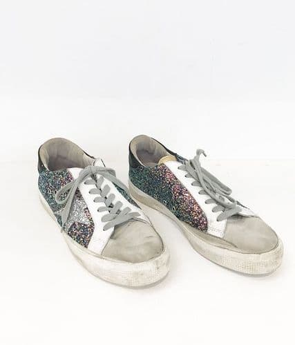 Golden Goose Sequin Trainers size 6 #3514/73 A
