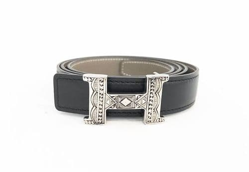 Hermes Touareg Buckle and Reversible Belt