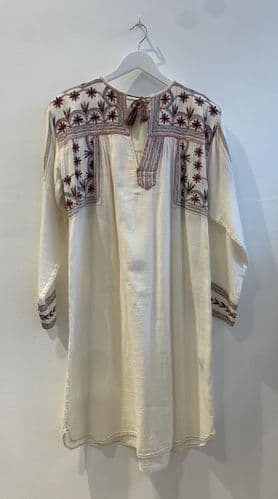 Isabel Marant Etoile Cream Embroidered Dress Size 8 #2977/36 A
