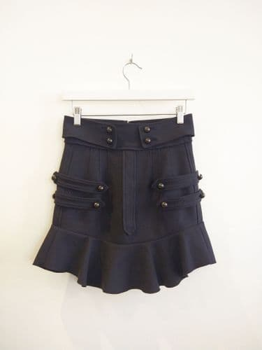 Isabel Marant Women's Navy Military Style Skirt Size 38