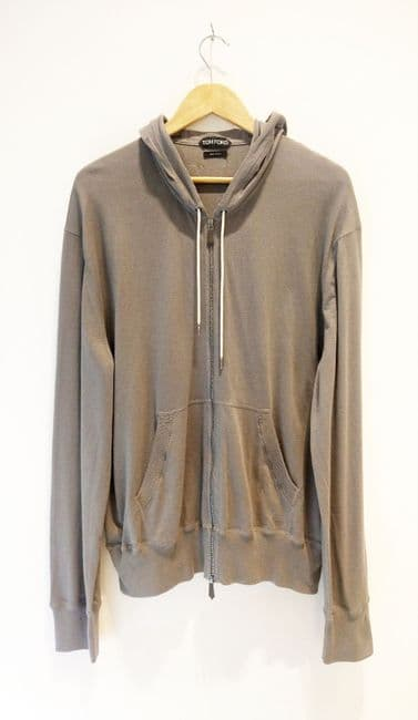 Men's Tom Ford zipped fine knit hoodie size 56