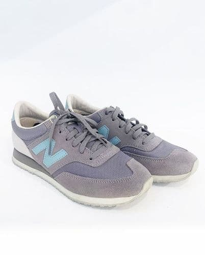 New Balance Taupe/ Blue Trainers Size  5 #5678/70 A