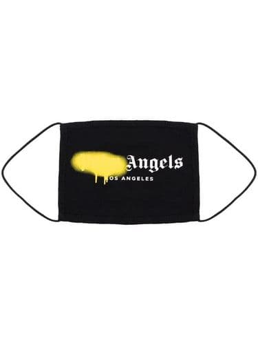 Palm Angels Paint Smudge Face Mask Yellow 195/A