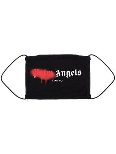 Palm Angels Paint Smudge Facemask Red #195/A