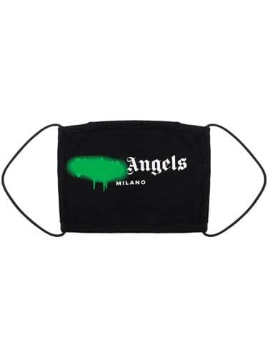 Palm Angels Smudge Face Mask Green #195/A