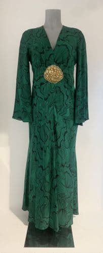 Rixo Womens Green Maxi Dress with Embellishment Size S/P