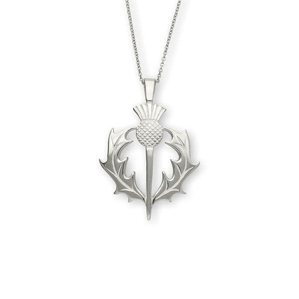 Ortak Thistle Pendant and Chain Sterling Silver