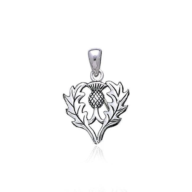 Peter Stone Celtic Thistle Pendant Sterling Silver
