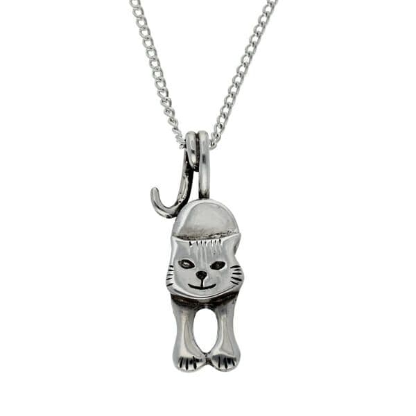 St Justin Kitty Cat Tail Pendant & Chain