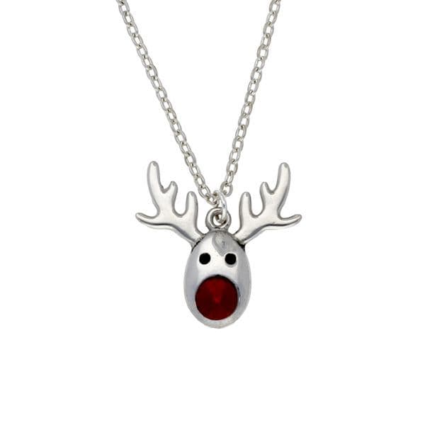 St Justin Rudolph Crystal Pendant & Chain