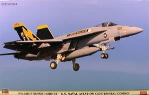 Hasegawa F/A-18 E/F Super Hornet US Naval Aviation Centennial Combo (2 Kits) (01963)