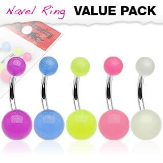 5 Pack of  Glow in the Dark Belly Bars