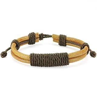 Brown Bamboo Coloured Leather Bracelet