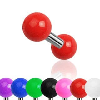 Cartilage Bar with Solid Colored UV Balls