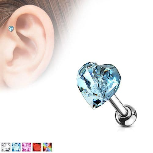 Heart Gem  Cartilage Bar