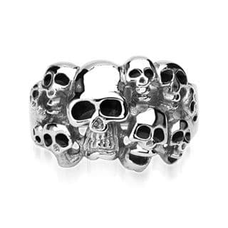 Men's Gothic Stainless Steel 10 Skull Ring