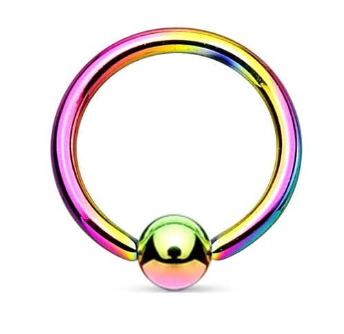 Multicoloured Ball Closure Ring Surgical Steel
