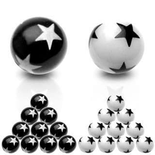 Star Logo Acrylic Spare Balls 1.6mm Thread