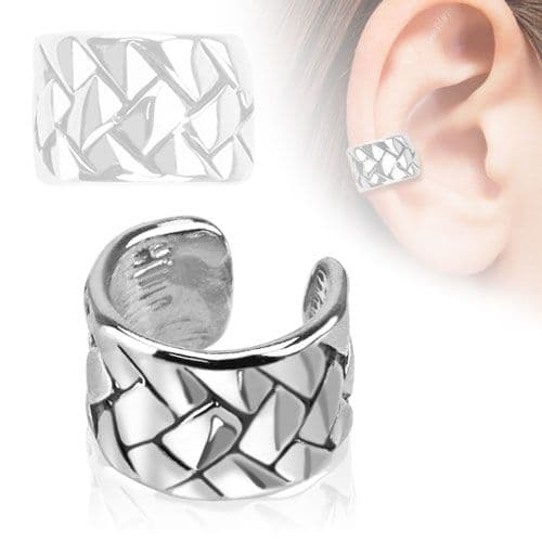 Weave Pattern Ear Cuff (Clip On)