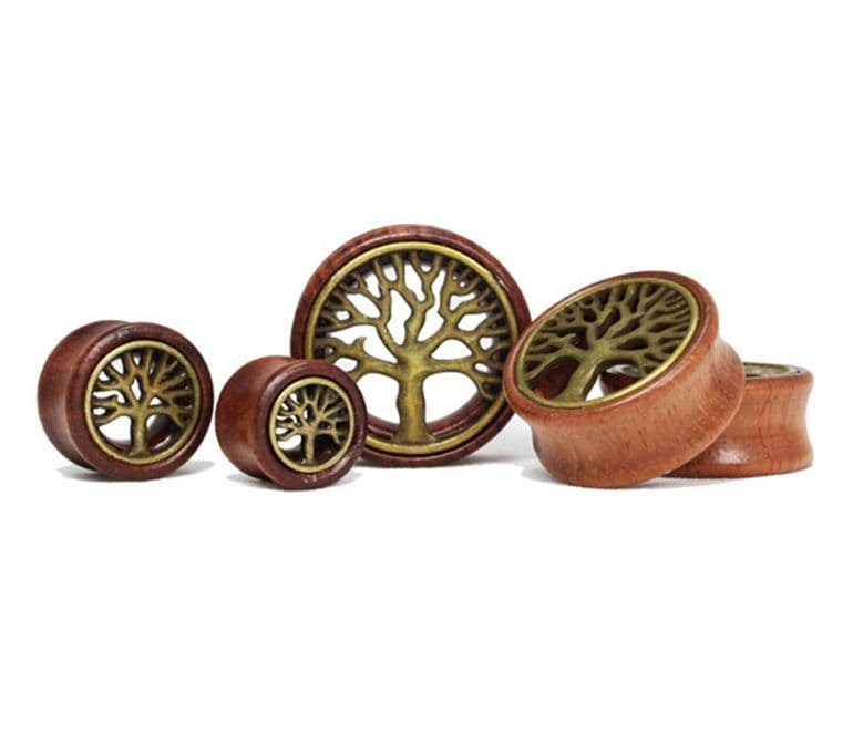 Wooden Tree of Life Ear Stretcher Tunnel