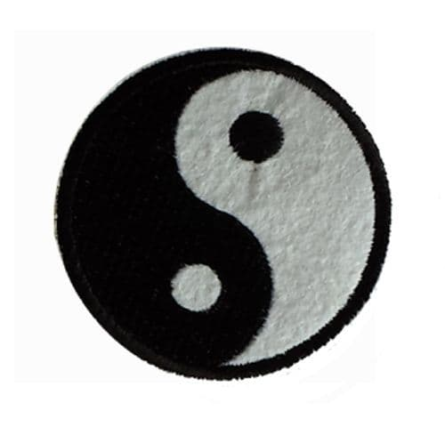 Yin Yang Iron / Sew On Embroidered Patch