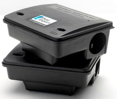Rat Bait Stations / Mouse Bait Stations, Auto-Locking (Twin Pack)